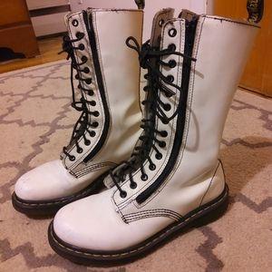 Dr. Martens Double Side Zipper Combat Boots**9